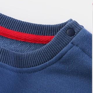 YUZHAOLIN 俞兆林 儿童卫衣 大闹天宫102撞色织带牛仔蓝 140cm