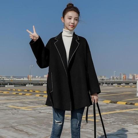 Hanhou queen 憨厚皇后 HQ20-GYX8003C 女士全羊毛双面羊绒大衣外套