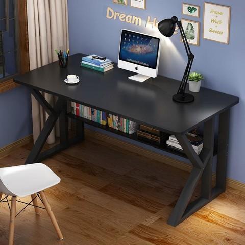 LISM 电脑台式桌书桌家用小桌子简约钢木现代卧室办公桌学生简易写字桌