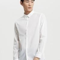 ME&CITY 527212-211195 男装休闲潮流白衬衫