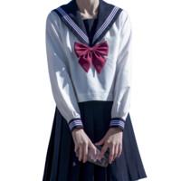 栗下町 JK制服 水手服 女士中间服上衣 白色 XS