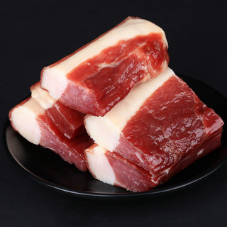 味肴腊品 风干腊肉 湖北荆门特产 农家自制腊肉500g 自家土猪后腿腌制咸肉 真空包装 风干腊肉500g*1袋
