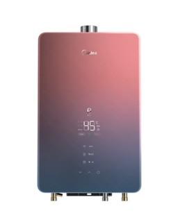 美的 智能家电 燃气热水器 极光款16L 增压零冷水 WIFI 玻璃全面屏 JSQ30-TX7