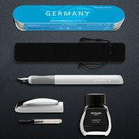 Schneider 施耐德  smart 克里普蝶尖钢笔+笔盒+笔袋+狮美乐吸墨器+狮美乐墨水
