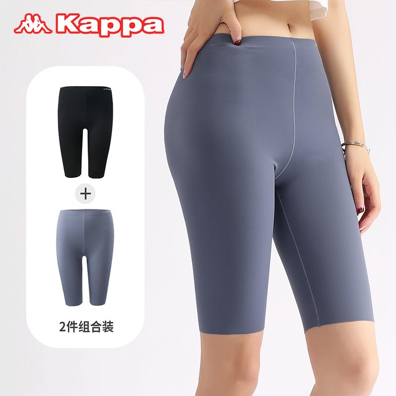 Kappa 卡帕  KP1L01-1女士薄款运动鲨鱼裤 2条装
