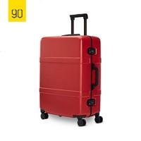 NINETYGO 90分拉杆箱小米铝框旅行箱新款商务登机 拉杆箱男女潮万向轮密码行李箱子20寸登机箱24寸大容量密码箱