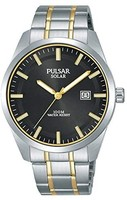 SEIKO 精工旗下Pulsar 男士腕表 太阳能驱动 双色 不锈钢