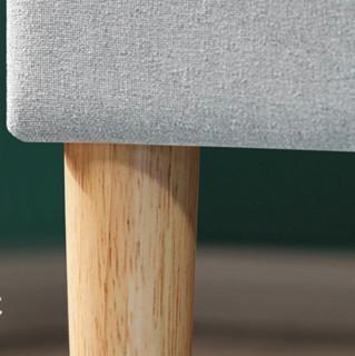 林氏木业 布艺床 浅灰色 120cm*190cm 普通款