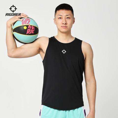RIGORER 准者运动篮球背心无袖男士速干宽松大码跑步运动休闲健身训练上衣