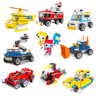 布鲁可 大颗粒儿童拼插积木车益智百变布鲁克儿童拼装玩具男孩女孩 百变-挖掘机