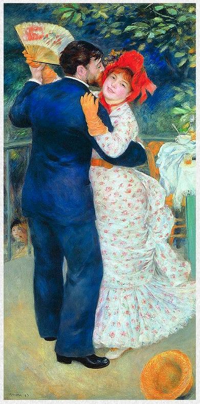 雅昌 雷诺阿《乡间舞者》86×167cm 装饰画 油画布