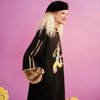 elf sack 妖精的口袋 大闹天宫联名系列 女士拼接连衣裙 1110_AL0027
