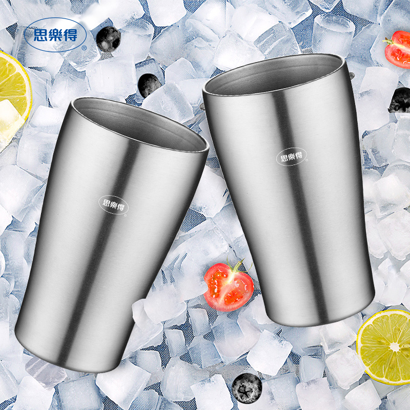 304不锈钢真空杯啤酒杯防摔冷饮咖啡杯扎啤随手杯SVC-400B