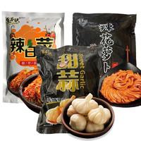 信韩尚 韩国泡菜开胃酱腌菜 (辣白菜500g+辣花萝卜500g+糖蒜500g)