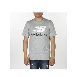new balance New Balance 新百伦 男士 Essentials Stacked Logo短袖运动T恤 纯棉透气 轻柔舒适