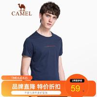CAMEL  夏季新款圆领短袖t恤
