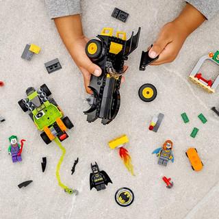 乐高76180DC超级英雄系列蝙蝠车追击小丑男女孩益智积木玩具LEGO