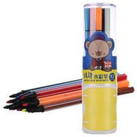 M&G 晨光 ACPN03A1 小熊哈里系列 水彩绘画笔 12支/筒