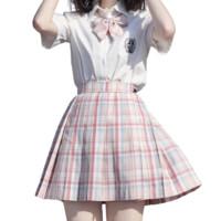 Mirai 未来制服馆 桃桃时代 JK制服 女士格裙 粉色 42cm M