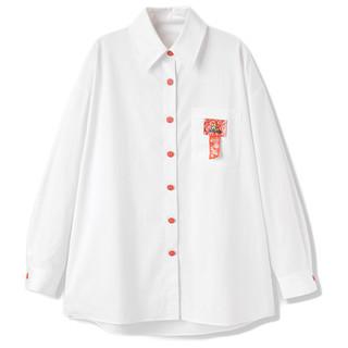 PEACEBIRD 太平鸟 米妮联名系列 女士长袖衬衫 AYCAB2A0201 白色 M