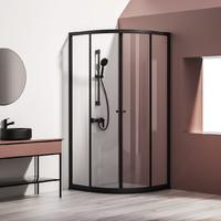 diiib 大白 铝合金淋浴房 弧扇形 圆把手 亮银色 0.9*0.9*1.9m 6mm玻璃