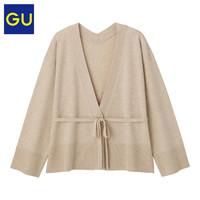 GU 极优 324794 女装防紫外线带腰带针织开衫