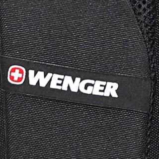 Wenger 威戈 瑞士军刀男士大容量户外背包 黑色 14英寸