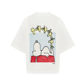 MO&Co. 摩安珂 史努比联名系列 女士短袖T恤 MBA2TEE009