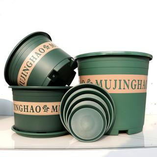 新款二代矮胖加仑花盆塑料绿萝月季多肉大口径清仓特价加厚加仑盆