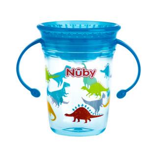 Nuby 努比 宝宝tritan水杯宝宝学饮杯训练喝水杯儿童喝奶杯家用防漏防呛 恐龙-240ml-tritan无刻度