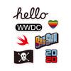 SkinAT 笔记本电脑局部贴 ipad创意贴 拉杆箱贴 冰箱贴  苹果WWDC20