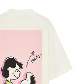 MO&Co. 摩安珂 史努比联名系列 女士短袖T恤 MBA2TEE020 米杏色 M