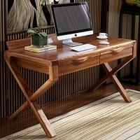 林氏木业 CU1V 简约新中式实木框双人书桌