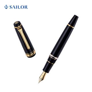 SAILOR写乐 3527活塞上墨大型21K双色金尖钢笔平顶天冠 活塞平顶黑色 F 明尖 官方标配