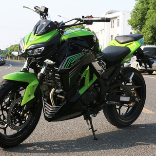 2019新款Z1000摩托车跑车国四电喷摩托车街车 川崎绿/黑色 国四豪华型:维森克400CC双缸水冷电喷六档链条机