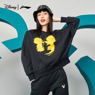 迪士尼|李宁联名系列功夫米笈卫衣女士2021新款套头长袖运动服 乳白色 XL
