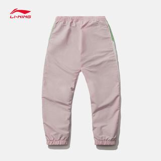 李宁 运动裤女士 运动时尚系列女装宽松收口运动长裤 乳白色 XL