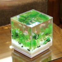 SUNSUN 森森 小型超白玻璃鱼缸 187*147*180mm