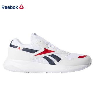 锐步Reebok 男子复古休闲鞋 DASHONIC 时尚款网面低帮运动鞋 白色/学生军蓝色/原始红 44.5