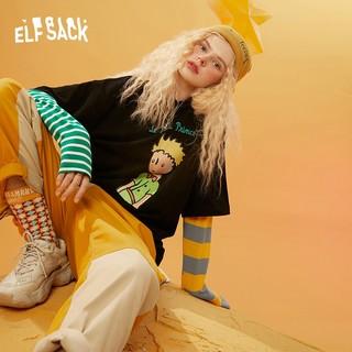 elf sack 1040_AL5059ZB 女士拼接长袖T恤