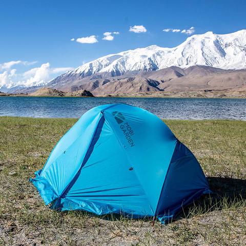 MOBI GARDEN 牧高笛 露营超轻铝杆带雪裙高山雪线四季双人帐篷RY2Plus EX19661008 雪裙版-天蓝
