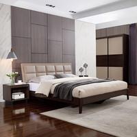 QuanU 全友 123901 意式卧室软靠床 1.8m床+床头柜*1