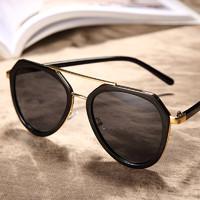 HAUTTON 皓顿()太阳镜男女款偏光驾驶墨镜男士偏光眼镜947190001黑框灰片