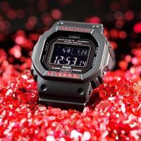 CASIO 卡西欧 手表男小方块太阳能户外手表 GW-B5600HR-1PR