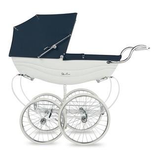 Silver Cross 银十字 Balmoral Pram系列 SX6006 婴儿推车 蓝白色