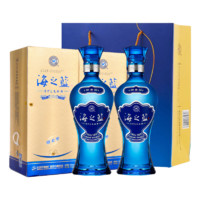 超值商超日:YANGHE 洋河  海之蓝浓香型白酒  375ml*2瓶