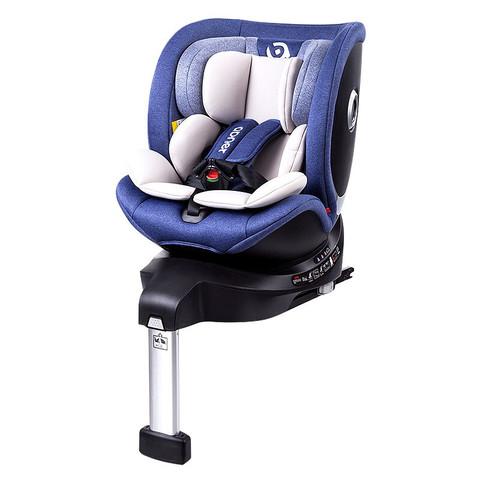 Abner 阿布纳 婴儿童安全座椅汽车用0-4-7岁360度旋转坐躺调节isofix硬接口+支撑腿 星赏官 梦幻蓝