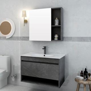 annwa 安华 N3D80G17-B+N4S961BK+AB13001 浴室柜+花洒+马桶+挂件套装
