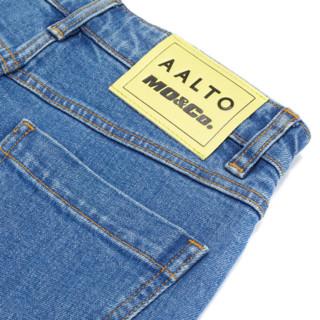 MO&Co. 摩安珂 AALTO系列 女士开衩牛仔裤 MBO1JEN021