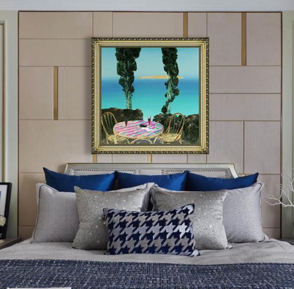 雅昌 顾依达《像天鹅绒一样温柔的淡季》104×104cm 装饰画 油画布